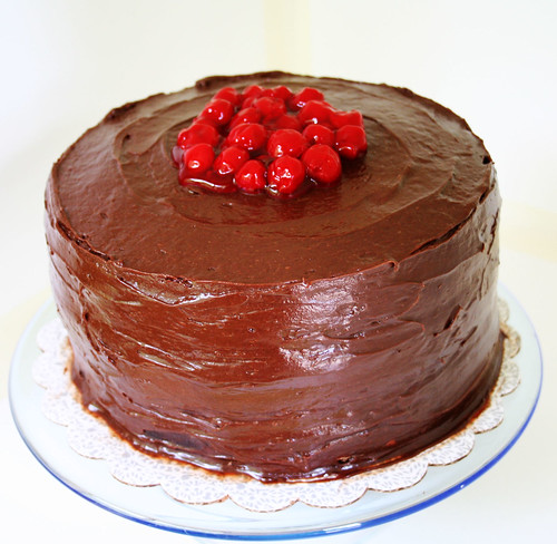 Chocolate Cake Cherry Frosting