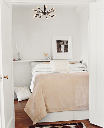 Ideas for small spaces white bedroom calm neutral palet for Small neutral bedroom ideas