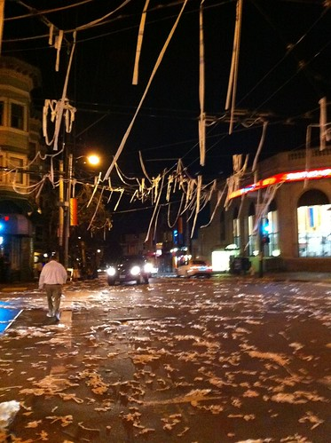 Toilet Paper In The Castro To Celebrate The Sf Giants Vict