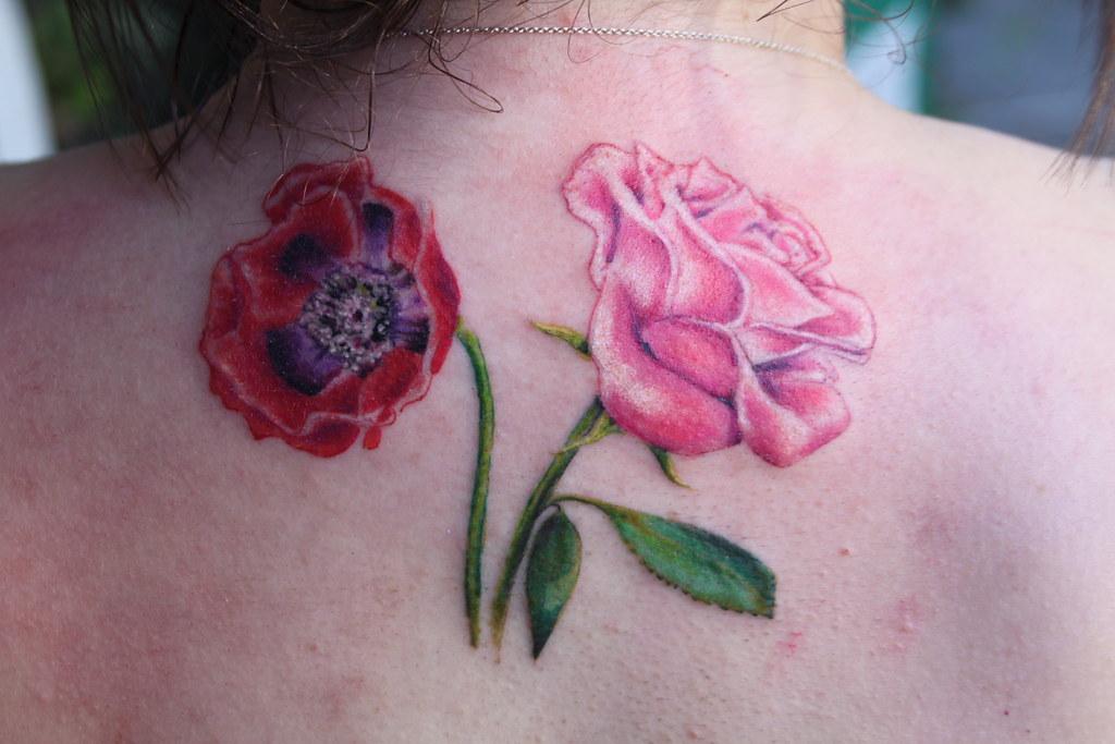 Poppy flower and rose tattoo by mirek vel stotker stotker flickr poppy flower and rose tattoo by mirek vel stotker by stotker mightylinksfo