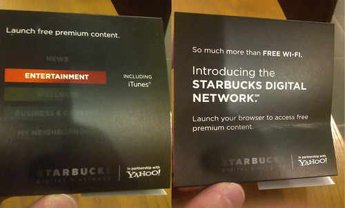 Starbucks Digital Network Tabletent | by GlennFleishman