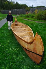 Erik Simula and his Birch Bark Canoe at Grand Portage National Monument | by Jim's outside photos