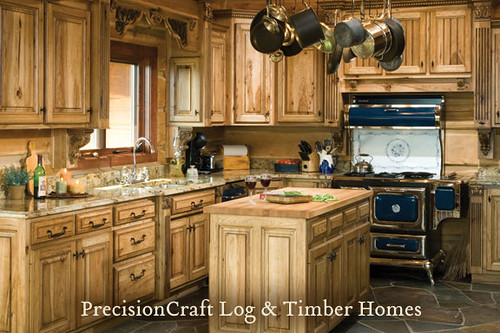 Custom Design by PrecisionCraft Log Homes | Kitchen View |… | Flickr