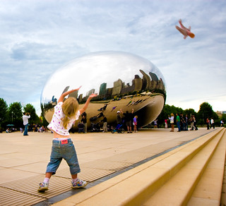 Grace throwing baby at Millennium Park | by Marc Battaglia