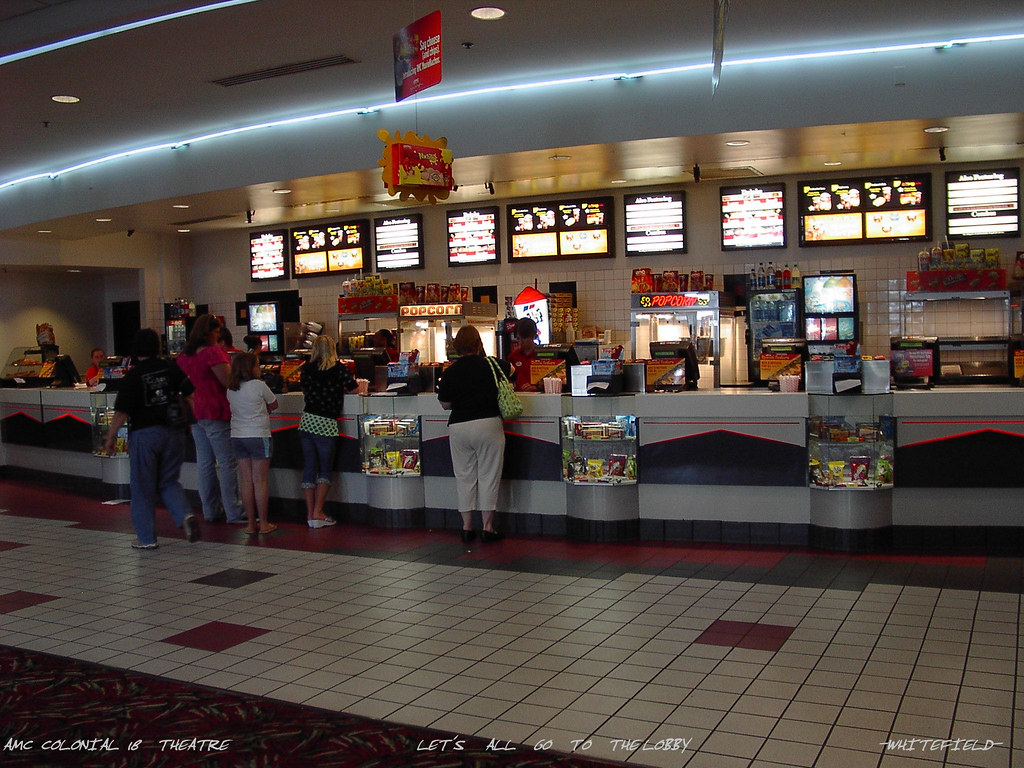 AMC COLONIAL 18 THEATRE LOBBY CONCESSION STAND