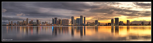 Downtown Miami at Sunset | by Fraggle Red