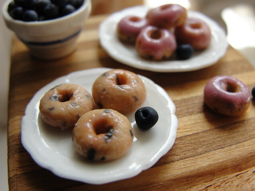 Showing some love for the blueberry donut | by It's a miniature life...is playing with clay