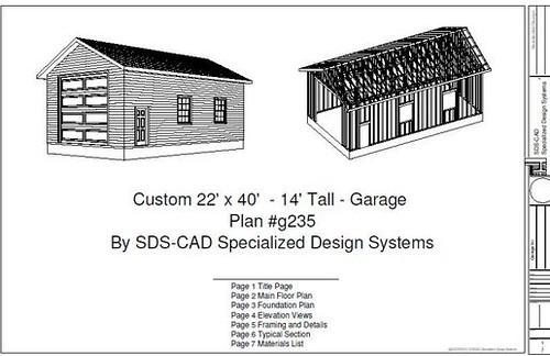Download rv garage plans g235 22 x 40 14 rv garage plans for Garage plans free download