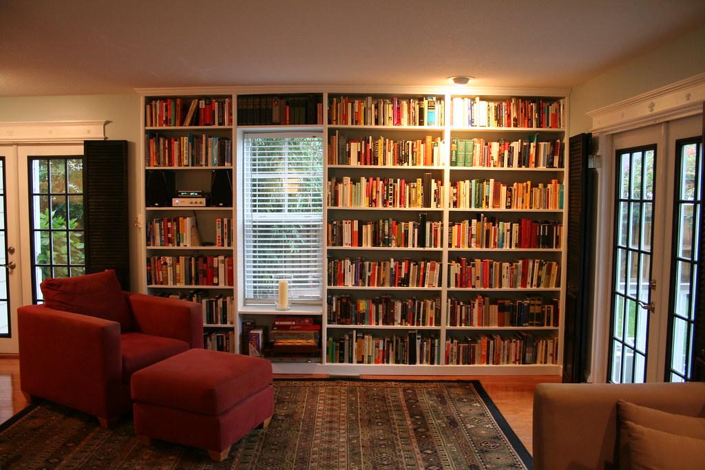 New Built In Bookshelves