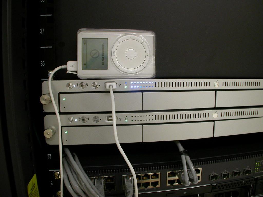 Booting a 1st gen Apple Xserve...