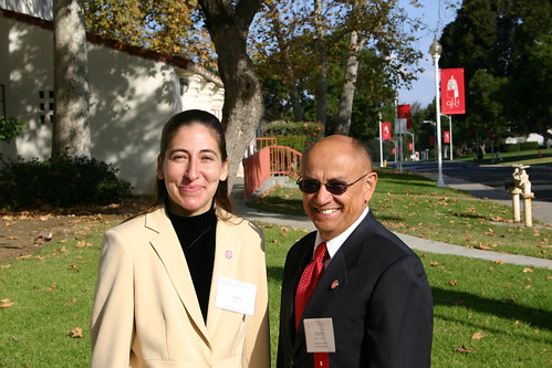 Tania Garcia and Marty do los Cobos attending Breakfast with the President event | by California State University Channel Islands