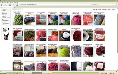 Ravelry Stash | by Twisted Knitter