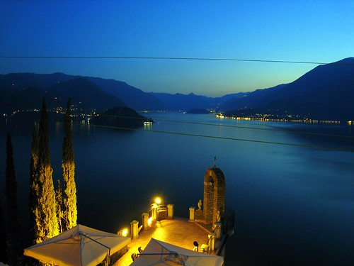 Bellagio seen from the hotel Eremo Gaudio in Varenna | by BlackCatBabe