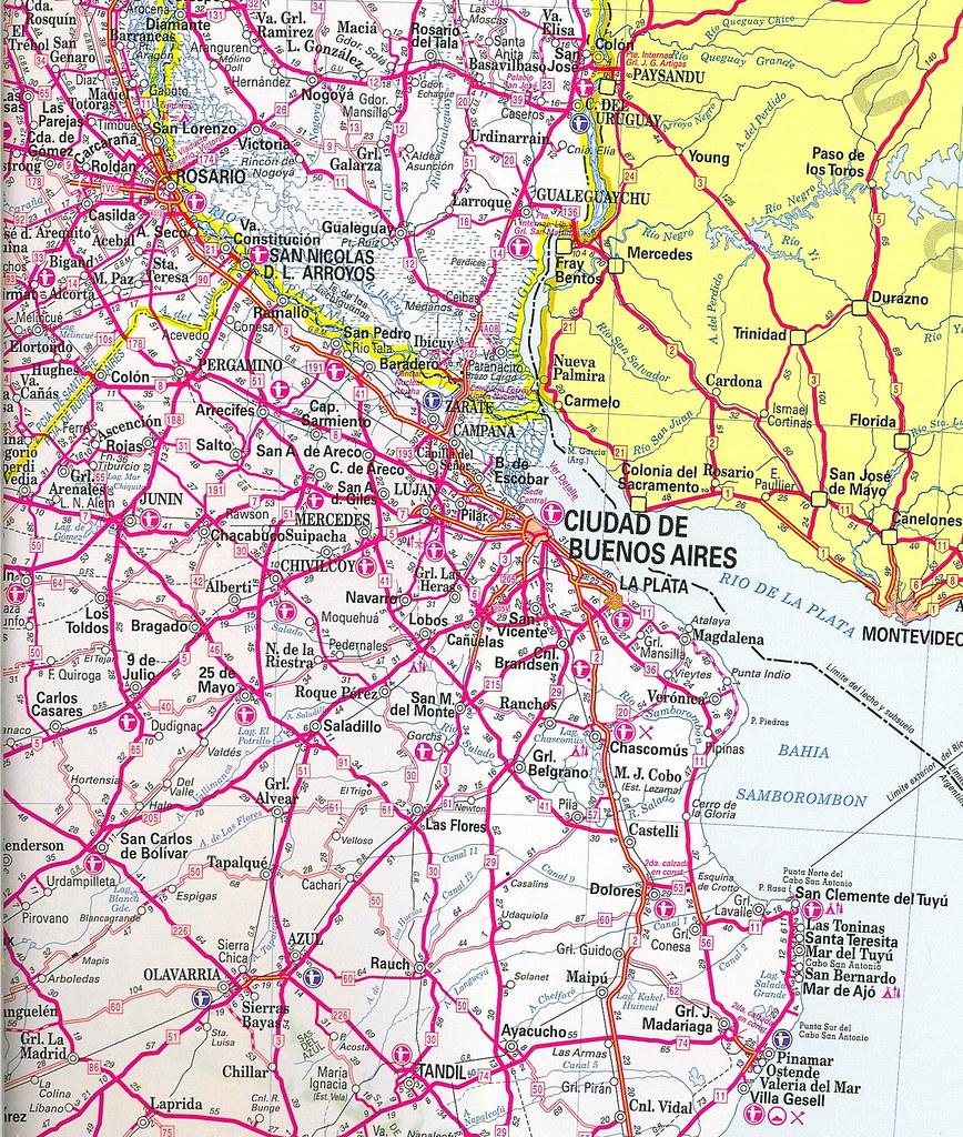 Mapa Rutas Argentinas Argentina Road Map Douglas Fernandes - South america road map