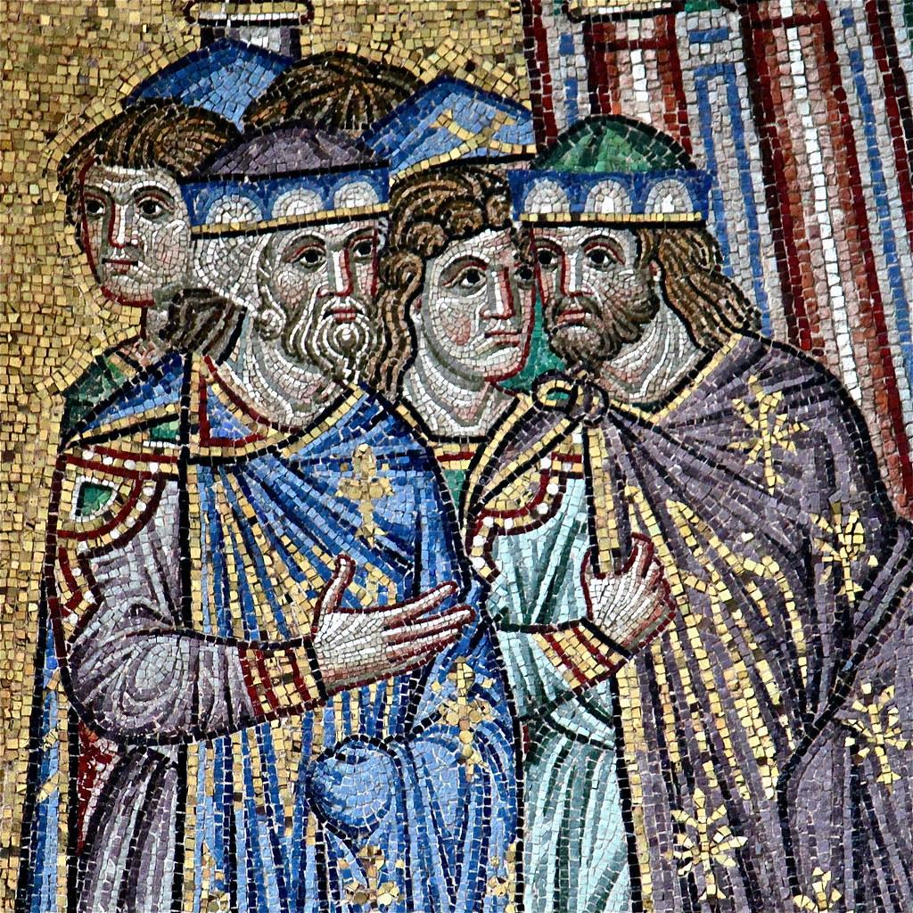 Detalle de mosaico bizantino. Fachada Basílica de San Marc…   Flickr