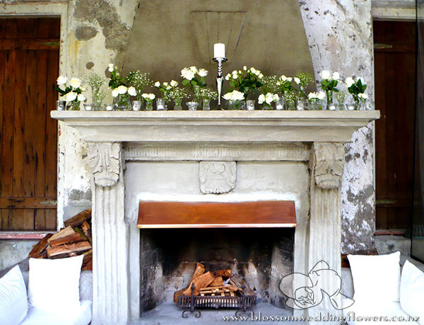 If only every fireplace mantle could look this lush and green! Imagine  saying
