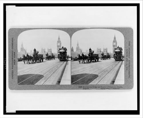 Westminster Bridge and Houses of Parliament London England c. 1909 | by snapshotsofthepast.com