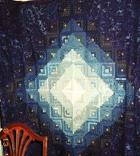 T - Blue Log Cabin | by Linda Rotz Miller Quilts & Quilt Tops
