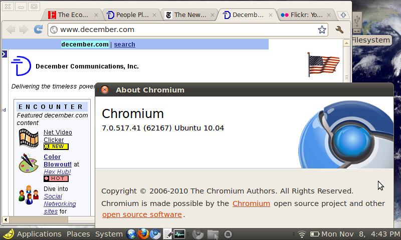 google chrome pour eeepc