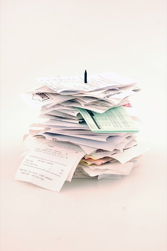 my stack of receipts from august until now | by kate*
