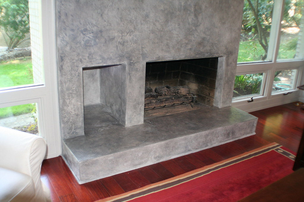 Fireplace Design plaster fireplace : Venetian Plaster Fireplace | Working with an existing brick … | Flickr