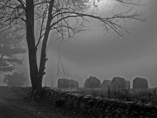 Creepy hay bales in the fog!!! | by mamaroo10 ~~Have a nice day!!! ;-))