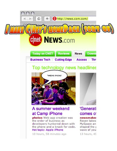 I make C|Net's News.Com frontpage (sort of) | by tychay
