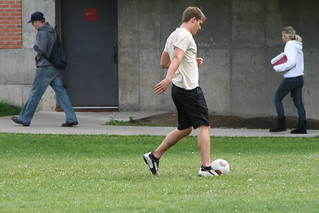 Kicking the Soccer ball around... | by SUNY Broome Community College