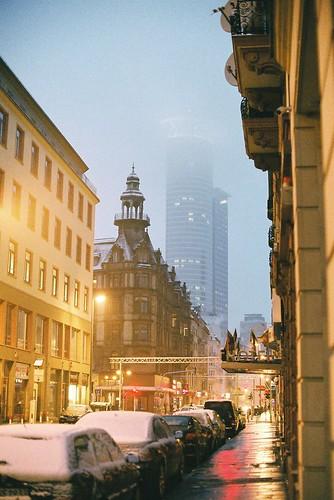 Frankfurt In Snow Tetsumaru Flickr