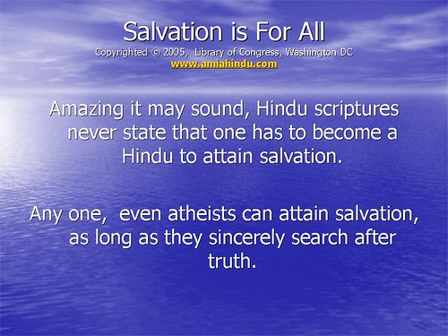 hinduism and salvation View homework help - rel212 weekly world view chart from rel 212 at strayer religion origin of all things nature of god view of human nature view of good and evil view of salvation view of.