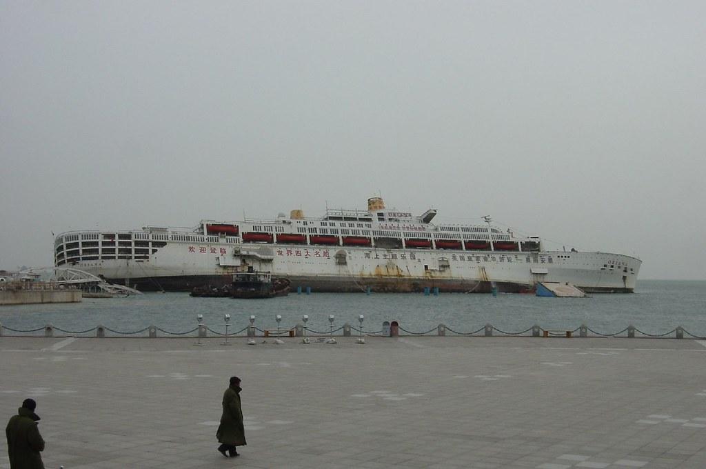Partially Sunken Cruise Ship Oriana In Dalian China Flickr - Sunken cruise ships