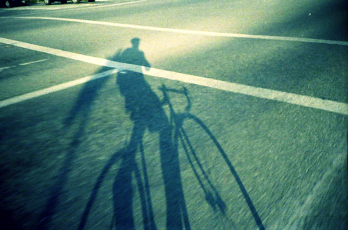 shadow lomo from the bike | by tazebao