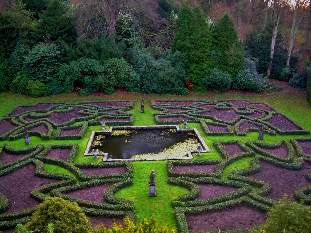 tudor gardens in winter at lyme park cheshire england u2026 flickr