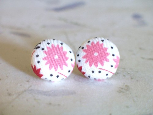 Bella Earrings in Pink Flowers | by bellajean
