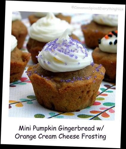 Pumpkin Gingerbread Muffins w/ Orange Cream Cheese Frosting | by CinnamonKitchn