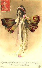 Vintage Postcard ~ Butterfly Girl | by chicks57