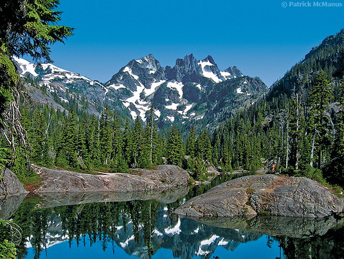 Spectacle Lake Alpine Lakes Wilderness Lemah Mountain