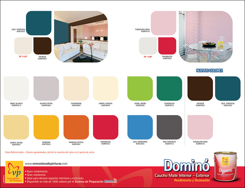 Carta de Colores domino MATE VP Retiro | Venezolana de Pinturas | Flickr