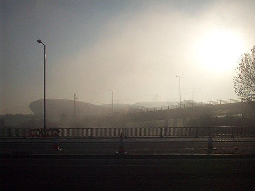 Early Morning Fog over the Olympic Park. | by Andy Wilkes