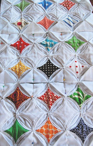 cathedral window quilt | by hyena-in-petticoats