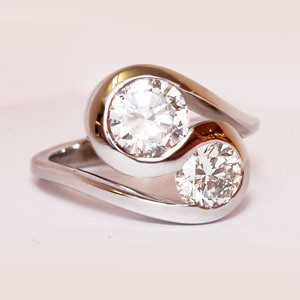 Two Stone Engagement Ring Settings