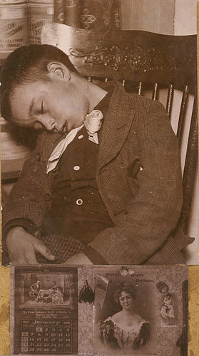 Dead Boy in Chair | These two images seem to have been