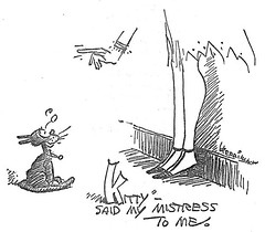 "Illustration by George Herriman for ""Mehitabel and Archy"" by Don Marquis 