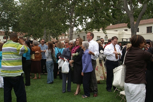 Student and Family Gathering for Photos | by California State University Channel Islands