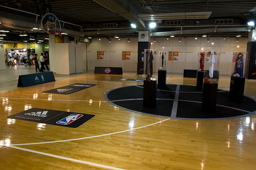 Indoor basketball court an indoor basketball court at for Free inside basketball courts