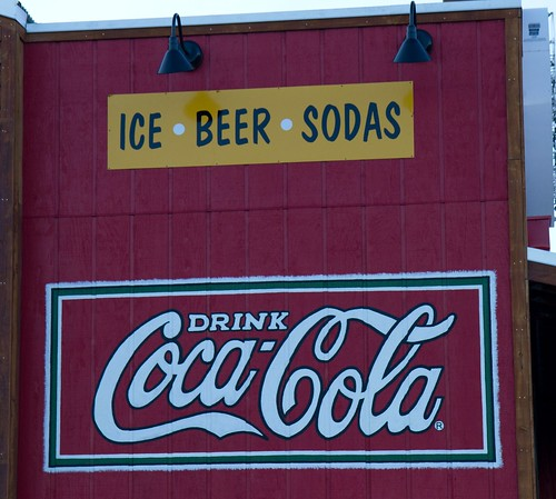 "Painted ""Drink Coca-Cola"" sign at Rudy's in Colorado Springs, CO 