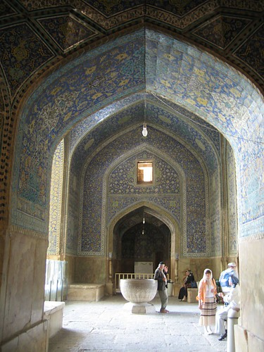 Back at the entrance by the North Iwan, Imam Mosque, Esfahan