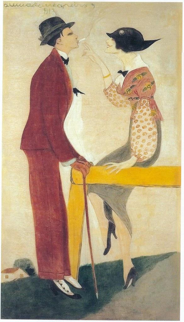 Almada Negreiros, Figurines for Cunha Taylors, 1913