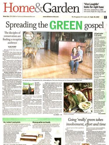 Speading the Green Gospel - Delaware News Journal | by Dhrumil