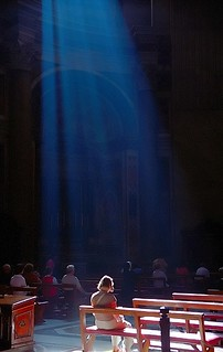 "Rome - Vatican City/Saint Peter's Basilica ""Shower of Light on Woman"" 